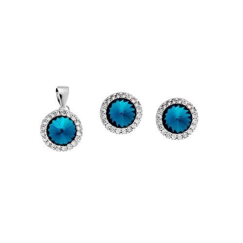 SENZA Silver 925 Set Pendant Earrings SSR2132TQ