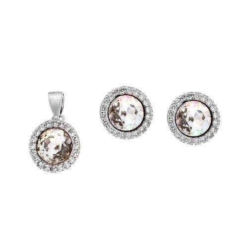 SENZA Silver 925 Set Pendant Earrings SSR2132WH