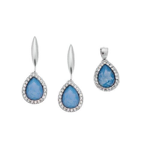 SENZA Silver 925 Set Pendant Earrings SSR2369AM