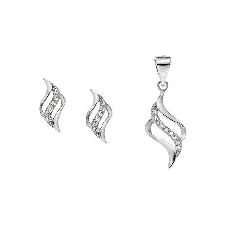 SENZA Silver 925 Set Pendant Earrings SSR2410SR