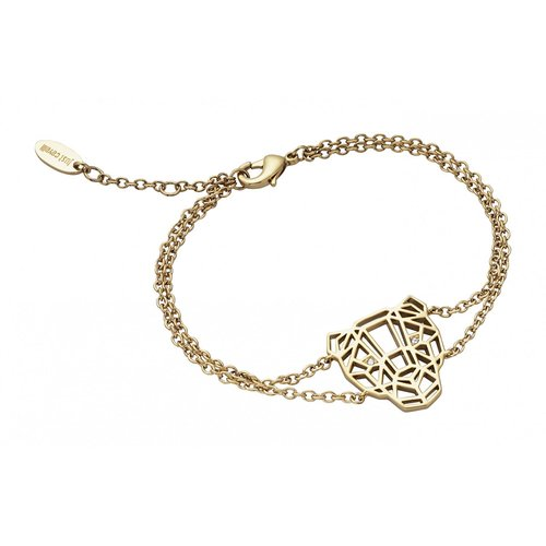 JUST CAVALLI Animal Gold Stainless Steel Bracelet JCBR00700200