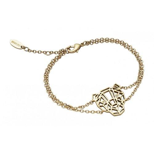 JUST CAVALLI Animal Gold Stainless Steel Bracelet JCBR00700200