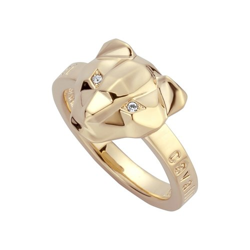 JUST CAVALLI Glam Chic Gold Stainless Steel Ring JCRG00790206