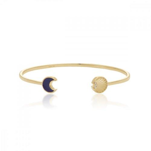 JCOU Sun And Moon Silver 925 Bracelet JW901G3-01