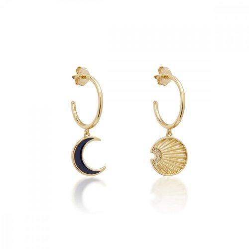 JCOU Sun And Moon Silver 925 Earrings JW901G4-01