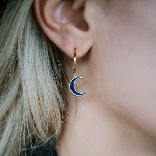 JCOU Sun And Moon Silver 925 Earrings JW901G4-01