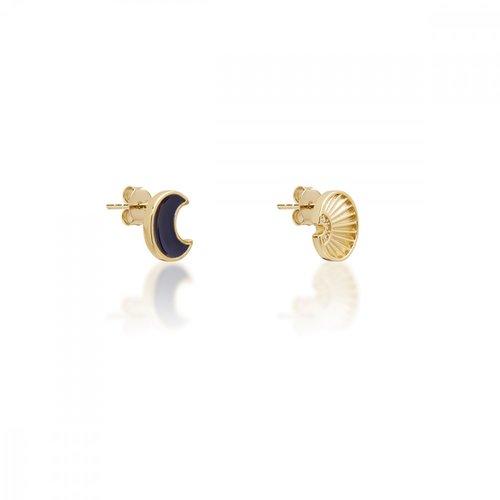 JCOU Sun And Moon Silver 925 Earrings JW901G4-02