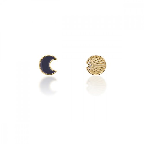 JCOU Sun And Moon Silver 925 Earrings JW901G4-02