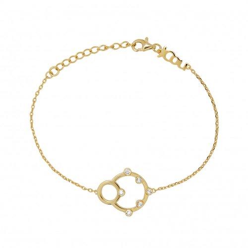 JCOU Round Minimal Silver 925 Bracelet JW906G2-01