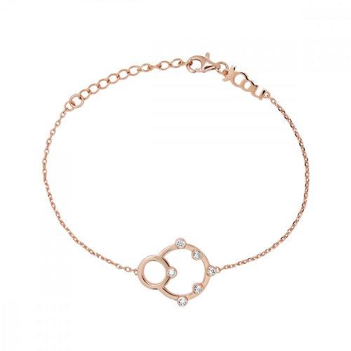 JCOU Round Minimal Βραχιόλι Ροζ Χρυσό Από Ασήμι 925 JW906R2-01