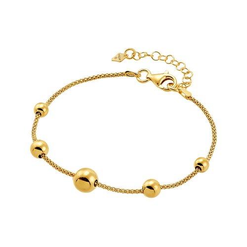 VOGUE Βραχιόλι Χρυσό Με Στρογγυλά Μοτίφ Από Ασήμι 925 1097301
