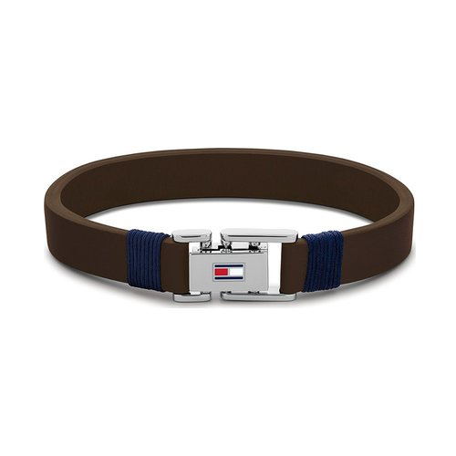 TOMMY HILFIGER Leather Stainless Steel Bracelet 2790227S