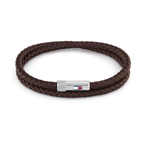 TOMMY HILFIGER Leather Stainless Steel Bracelet 2790263S