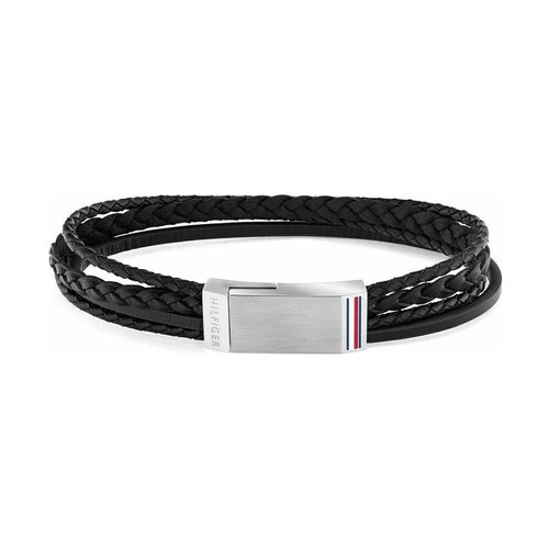 TOMMY HILFIGER Leather Stainless Steel Bracelet 2790281S