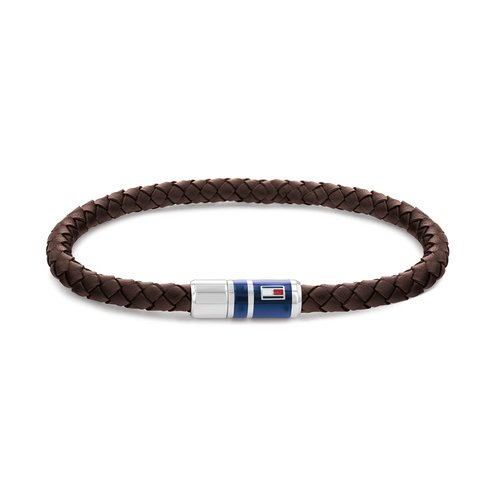 TOMMY HILFIGER Leather Stainless Steel Bracelet 2790295