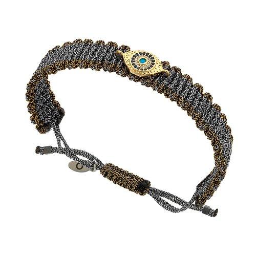 BREEZE Metal Cord Zircons Adjustable Bracelet 310011.1