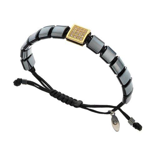 BREEZE Metal Cord Zircons Adjustable Bracelet 310012.2