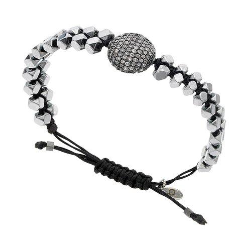 BREEZE Metal Cord Zircons Adjustable Bracelet 310015.4