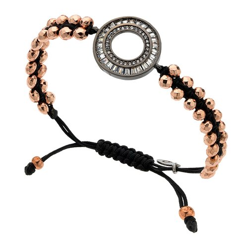 BREEZE Metal Cord Zircons Adjustable Bracelet 310018.3