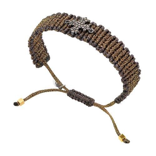 BREEZE Metal Cord Zircons Adjustable Bracelet 310019.9
