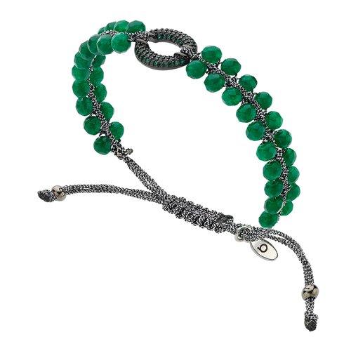 BREEZE Metal Cord Zircons Adjustable Bracelet 310031.4