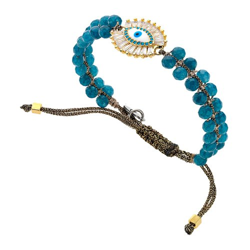 BREEZE Metal Cord Zircons Adjustable Bracelet 310033.1