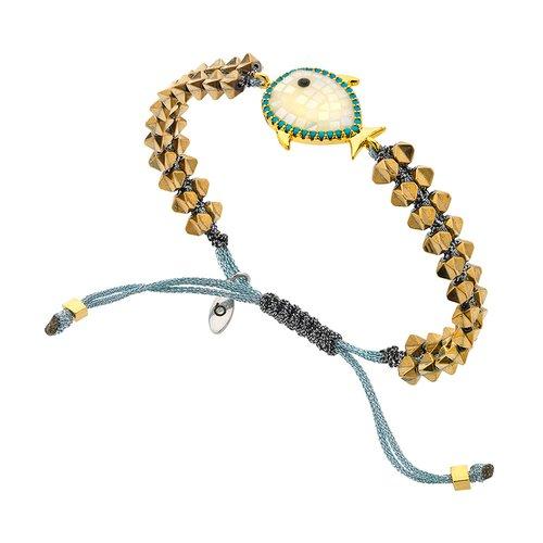 BREEZE Metal Cord Zircons Adjustable Bracelet 310034.1