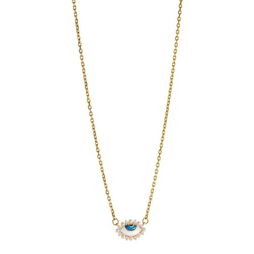 BREEZE Stainless Steel Zircons Necklace 410037.1