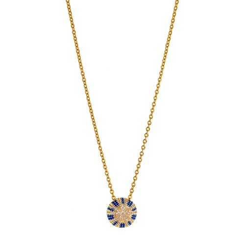 BREEZE Stainless Steel Zircons Necklace 410039.1
