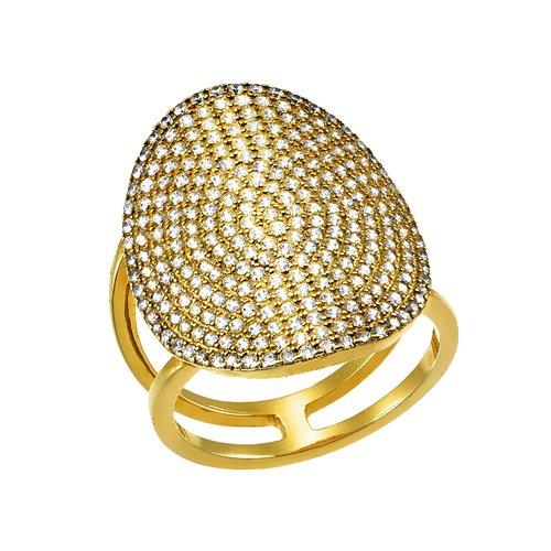 VOGUE Pave Δαχτυλίδι Χρυσό Από Ασήμι 925 Με Ζιργκόν 9053101