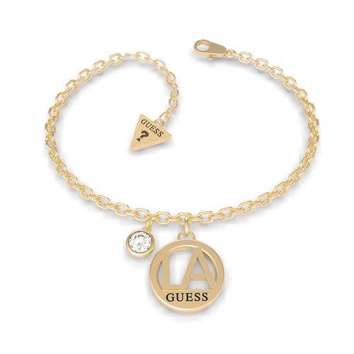 GUESS STEEL L.A. Χρυσό Βραχιόλι Με Charm UBB79057-S