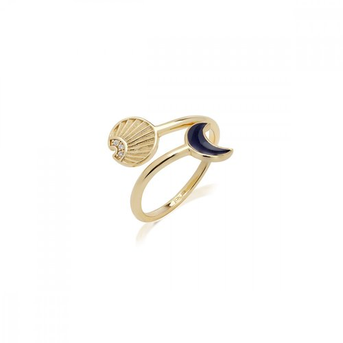 JCOU Sun And Moon Silver 925 Ring JW901G0-02