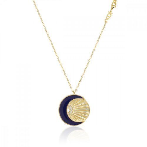 JCOU Sun And Moon Silver 925 Necklace JW901G1-01