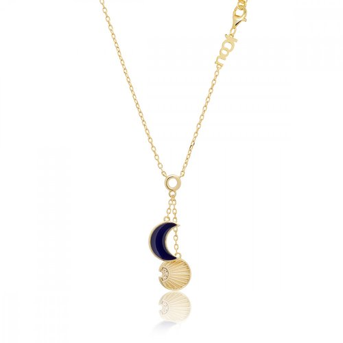 JCOU Sun And Moon Silver 925 Necklace JW901G1-02