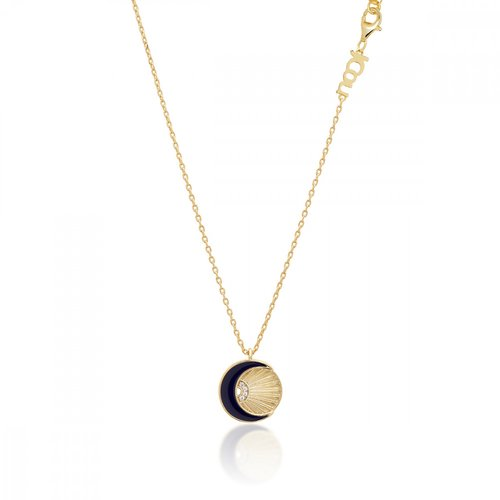 JCOU Sun And Moon Silver 925 Necklace JW901G1-03