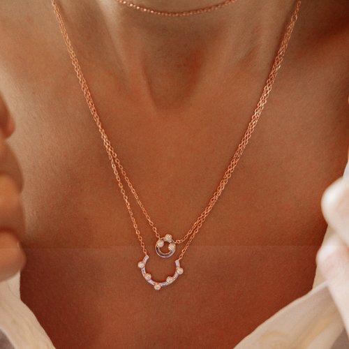 JCOU Round Minimal Silver 925 Necklace JW906R1-01
