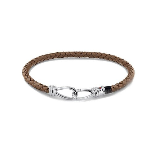 TOMMY HILFIGER Leather Stainless Steel Bracelet 2790231S