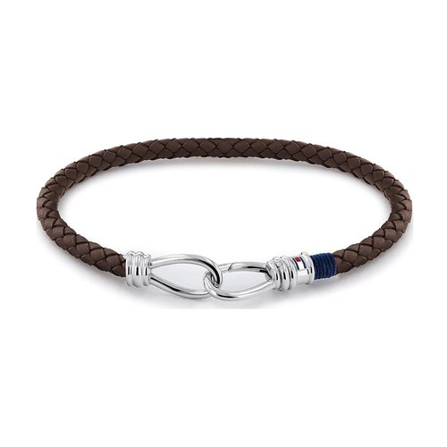 TOMMY HILFIGER Leather Stainless Steel Bracelet 2790232S