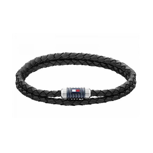 TOMMY HILFIGER Leather Stainless Steel Bracelet 2790303