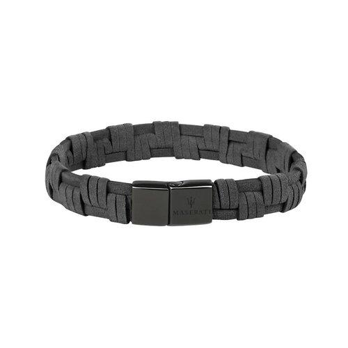 MASERATI Leather Bracelet JM218AMF06