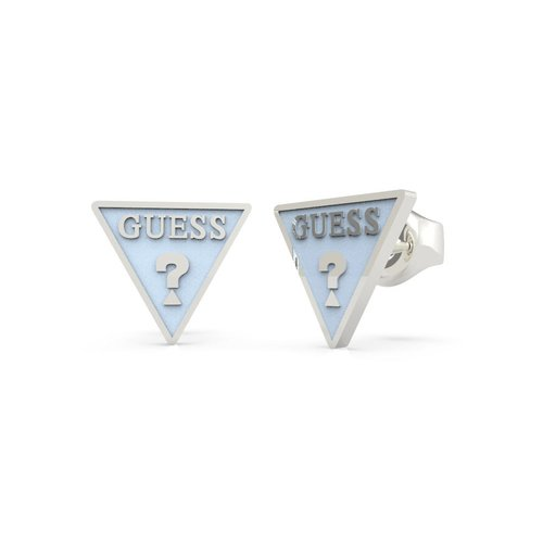GUESS STEEL Dream & Love Γαλάζια Σκουλαρίκια Τρίγωνα UBE70123