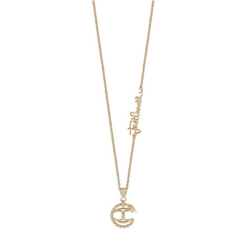 JUST CAVALLI Logo Gold Stainless Steel Necklace JCNL00770500