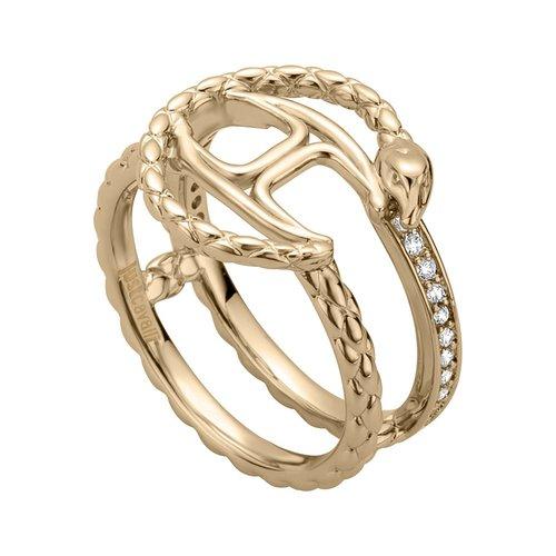 JUST CAVALLI Logo Gold Stainless Steel Ring JCRG00770207