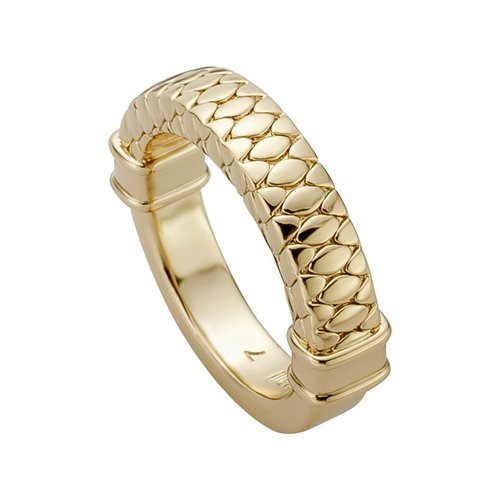 JUST CAVALLI Glam Chic Gold Stainless Steel Ring JCRG00880207