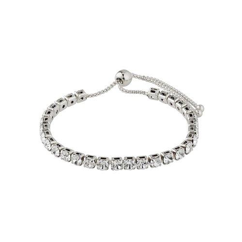 PILGRIM Lucia Crystal Silver-Plated Bracelet 601916022