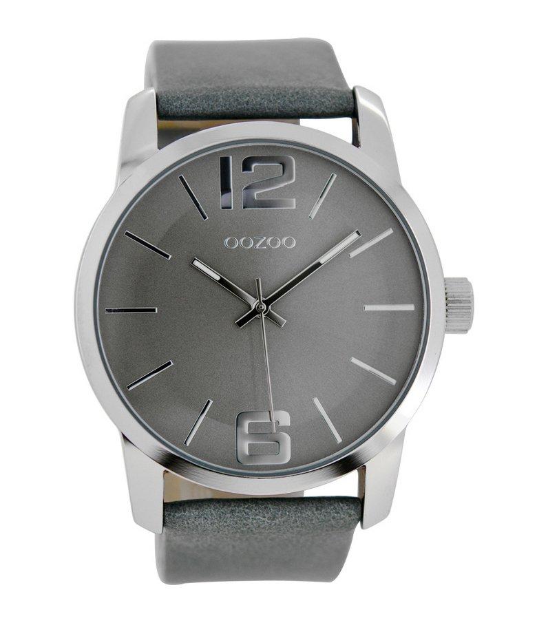 OOZOO Timepieces XL Grey Leather Strap C6707 721eca810d0